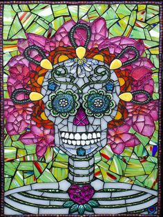 Mosaic Skeleton...this is cool but I'm pretty sure, if I ever want to sleep again, it couldn't hang anywhere in my house! At least I think she's smiling! :)