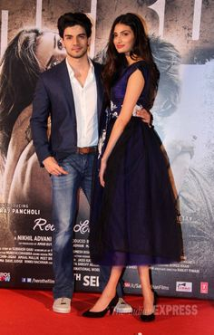 Sooraj Pancholi and Athiya Shetty at the trailer launch of 'Hero'. #Bollywood #HeroTrailer #Fashion #Style #Handsome #Beauty