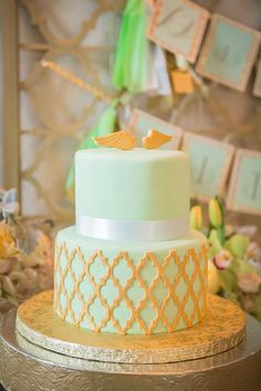 Elegant Mint and Gold Baptism Party - The Celebration Society