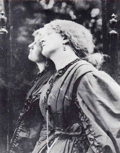 Fanny Cornforth (c. 1835 – c. 1906)[1] was an English maidservant who became an artist's model and mistress of the Pre-Raphaelite painter Dante Gabriel Rossetti. A member of the lower working class of English society, Cornforth performed the duties of housekeeper for Rossetti.    In Rossetti's paintings, Fanny Cornforth appears as a fleshy redhead, in contrast to his more ethereal treatments of his other models, Jane Morris and Elizabeth Siddal.