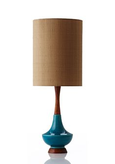 Electra Lamp Large - Raw Silk Gold Retro Print Revival