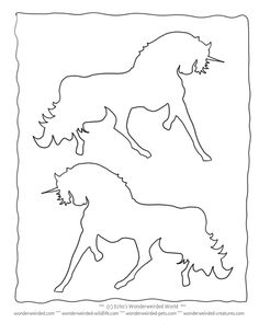 Realistic Unicorn Coloring Pictures Book FREE to print at www.wonderweirded-creatures.com/realistic-unicorn-coloring-pictures-book.html , Fantasy Coloring Pages and Unicorn Outline Patterns