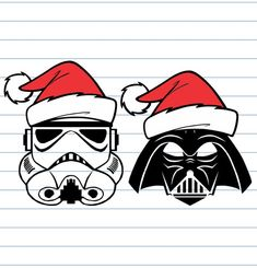 Christmas reward concepts for the Star Wars lover in your life - essential Merry Christmas Happy Holidays, Diy Christmas Cards, Christmas Hat, Christmas Signs, Xmas Cards, Christmas Ideas, Christmas Crafts, Disney Christmas Shirts, Xmas Shirts