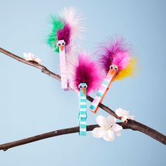 The kids will enjoy making these whimsical Kids' Clothespin Birds
