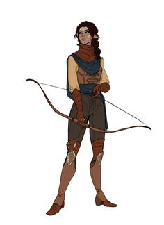 Female Elf Archer Ranger - Pathfinder PFRPG DND D&D d20 fantasy