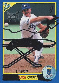 Baseball Card Vandals, Worthless Old Baseball Cards Defaced With Funny Illustrations