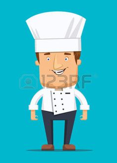 fiesta empresa: Jefe cocinero chef de cocina del restaurante de lujo en la ilustración uniforme