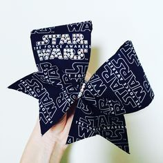 STAR WARS RHINESTONE BLING BOW! Ponytail holder attached! Free Shipping!