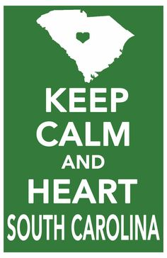 keep calm decor print south carolina art poster by ThePickleShop, $14.99