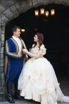 This Beauty and the Beast Engagement Shoot Is All Kinds of Enchanting