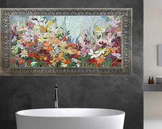 4pc ZEN MINI KOI mosaic panel set stained glass wall panel