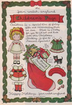 Joan Walsh Anglund - CHILDREN'S PAGE Merry Christmas 1978