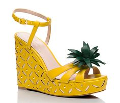 dominica pineapple wedges - Kate Spade New York Sock Shoes, Cute Shoes, Shoe Boots, Shoes Heels Wedges, Wedge Shoes, Wedge Sandals, Pineapple Clothes, Fashion Shoes, Fashion Accessories