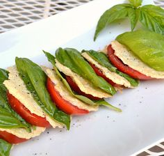 Caprese Salad. Nothing says summer to me like a caprese salad. I could eat them for breakfast lunch & dinner. This recipe is VEGAN. yay!