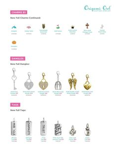 Origami Owl New Dangles and Tags- Fall 2013 TheLocketLife.com Independent Designer #44857
