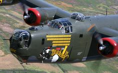 """""""Witchcraft"""" Consolidated B24J Liberator is part of the Collings Foundations Wings of Freedom Tour."""