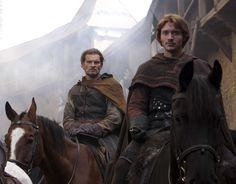 """Götz Otto & David Oakes in """"The Pillars of the Earth"""""""