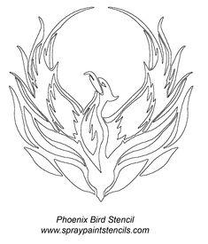phoenix-bird-stencil