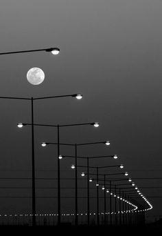 B&W lights by the moon ;)