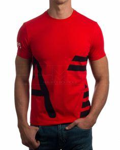 Camiseta EA7 Armani Roja - Multi logo