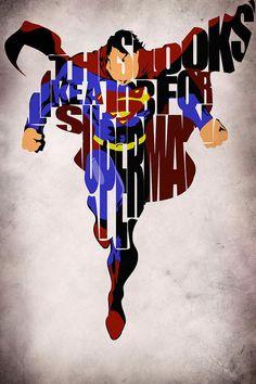Superman - Man Of Steel Drawing - Superman - Man Of Steel Fine Art Print