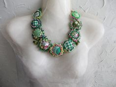 Spring Time  Fresh Forest Green Fairy Necklace by AccessoriesLilit
