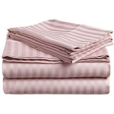 Darby Home Co Rieger 300 Thread Count Premium Long-Staple Combed Cotton Stripe Waterbed Queen Sheet Set Color: Lavender Egyptian Cotton Sheets, 100 Cotton Sheets, Cotton Sheet Sets, Sateen Sheets, Bed Sheets, Modern Contemporary, Water Bed, Deep Pocket Sheets, Shopping