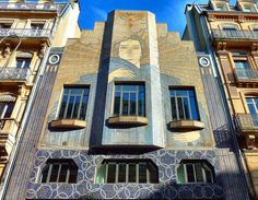 T… Toulouse Toulouse, France Photo by Iris Photo Incredible mosaic facade. From Flickr (translated): Building located on Rue d 'Alsace-Lorraine. Art Deco style designed by architect Jaussely in 1932, accented with lovely bluish mosaics and signed...