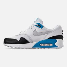 Left view of Men s Nike Air Max 90 1 Casual Shoes in White Neutral 932abc1a40
