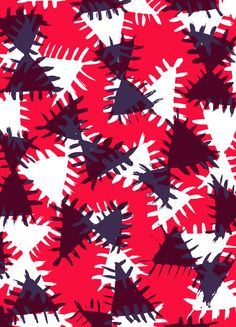 Triangle painted and digital pattern - Sarah Bagshaw