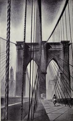 Brooklyn Bridge, Louis Lozowick