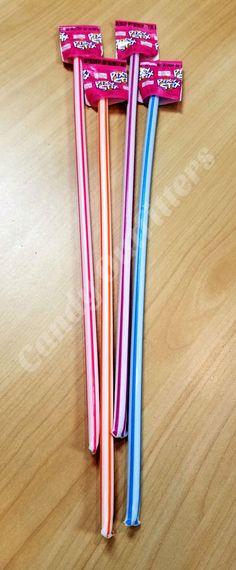 WONKA PIXY STIX CANDY STRAWS - LARGE CANDIES - CLASSIC SWEETS - 4 BIG STIX #Wonka
