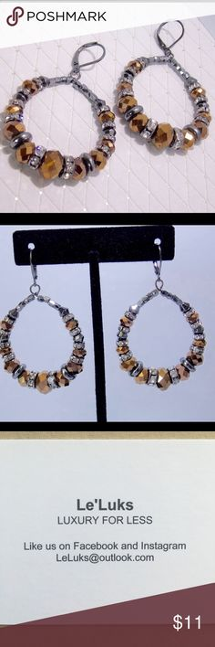 Brida brown fashion earrings New Brida brown fashion earrings!  Colors : black, silver and brown   Part of my jewelry shop Le'Luks   Follow us :) Jewelry Earrings