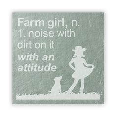 Tile - Large Slate   - Farm Girl: a noise with dirt on and an attitude
