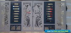 Grill Gate Design, Front Gate Design, Steel Gate Design, House Gate Design, Door Gate Design, House Front Design, Wood Panel Walls, Panel Wall Art, Cnc Plasma