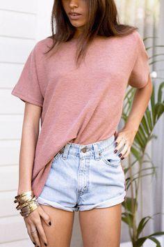 Side Splited T-shirt - US$13.95 -YOINS