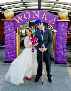 Newlyweds Donna and Ben Low were married in a Willy Wonka themed wedding (Caters)