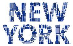 New York is natuurlijk een aaneenschakeling van iconische gebouwen. Alfalfa studio zette allemaal op een kleurrijke poster met de titel Iconic New York.