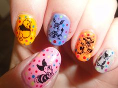 winnie the pooh nail art - Google Search