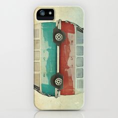VW Kombi Ying and Yang iPhone Case by Vin Zzep - $35.00