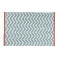 WAVE cotton low pile rug in grey 140 x 200cm | Maisons du Monde