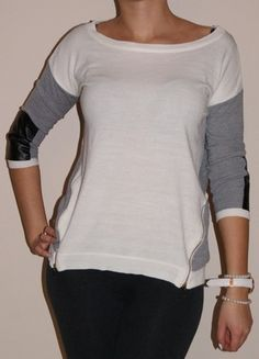 Kup mój przedmiot na #vintedpl http://www.vinted.pl/damska-odziez/bluzy-i-swetry-inne/7291068-sweterek-bialo-szary-stawki-zip