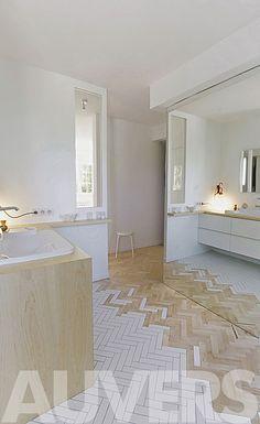 wood to tile floor transition - Kalb Lempereur Interior Designers