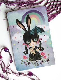 After the Rain Postcard Postcrossing Easter Bunny by Sandra Vargas