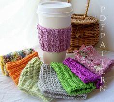 8 Cup Cuddler PDF Knitting Patterns by kljmayfield9 on Etsy, $7.00.