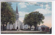 BristolConnecticut CT Postcard 1907-15 St Joseph Church and Parochial School