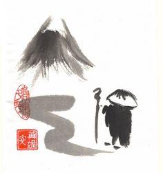 Zen Monk on Journey to Enlightenment by plasticpumpkin