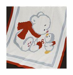 Crochet Pattern  Baby Blanket Pattern  Bear and by PatternWorldUK