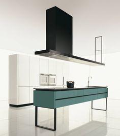 Cucina Hi-Line di Dada | Design: Ferruccio Laviani | Materiali: Laccato opaco e acciaio | #design #minimal @Molteni Arredamenti Dada