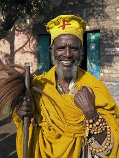 Holy Man on Pilgrimage in Gonder, Ethiopia